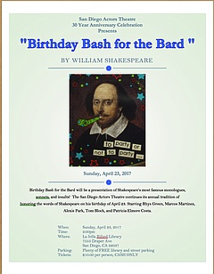Birthday Bash for the Bard