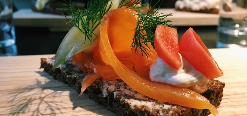 Danish Smoked Salmon Smørrebrød