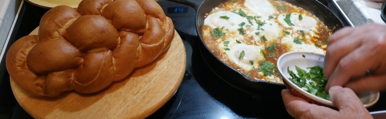 Shakshuka with Challah Bread