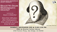 Talk: Should We Doubt Shakespeare's Identity?